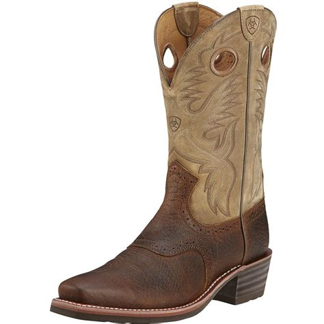 s ariat heritage roughstock earth cowboy boots item
