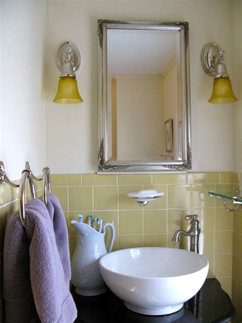 embracing vintage bath tile in budget makeover