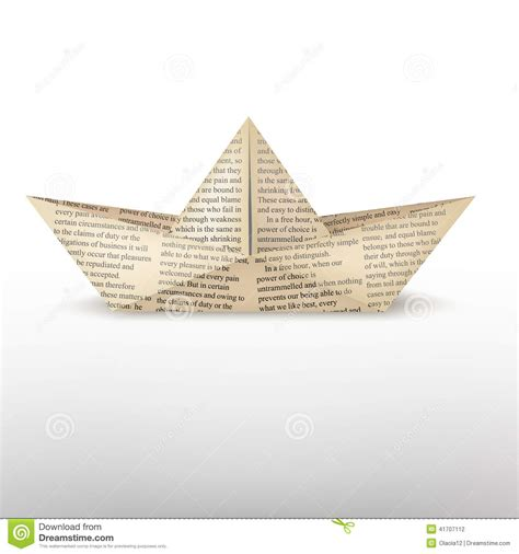 origami boat book origami boat stock vector image 41707112