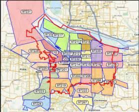 portland zip code map portland homes and condos