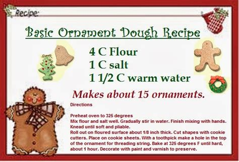cookie dough ornament ideas time   holidays
