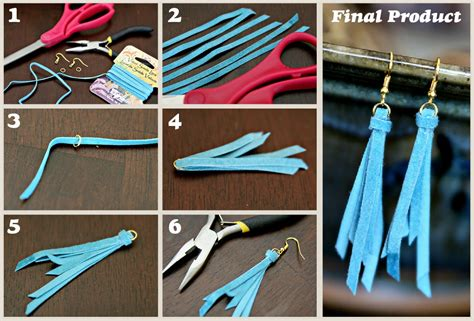 How To Make Easy Paper Earrings At Home - diy with the crafty nest anthro knockoff tassel earrings