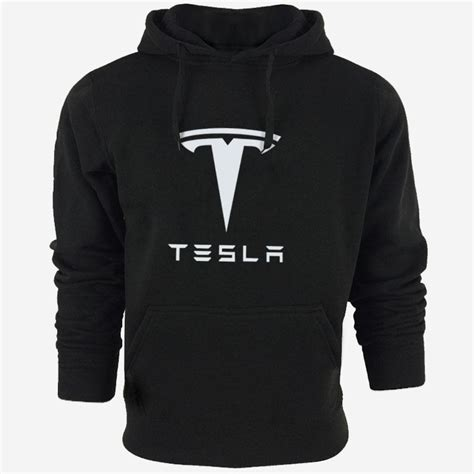 2017 tesla hooded hoodie fleece jacket coat sports suit casual fashion s clothing from