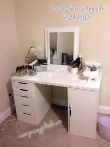 Ikea Alex Vanity Hack Diy Makeup Vanity Desk Set Up Alex Ikea Hack Vanity