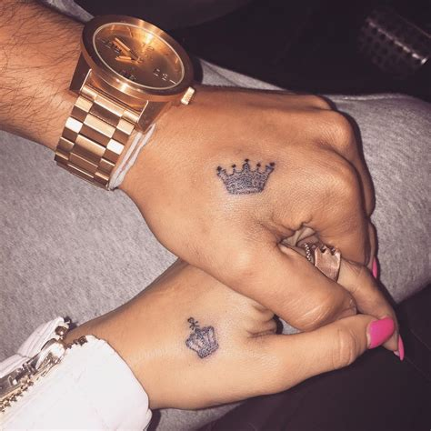 couples king and queen tattoos king and king brothers pinte
