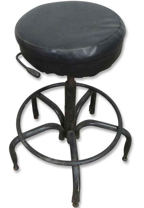 vintage metal base bar stools vintage adjustable stool with metal base olde things