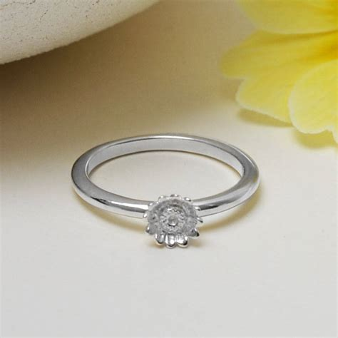 Sterling Silver Flower Ring sterling silver flower stacking ring by martha jackson