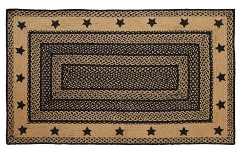 Primitive Kitchen Rugs New Primitive Country Colonial Kitchen Square Large Braided Rug Black The