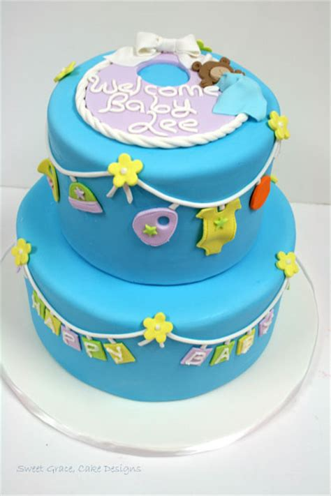 Baby Shower Cakes Nj by Baby Shower Cakes Nj Clothesline Custom Cakes