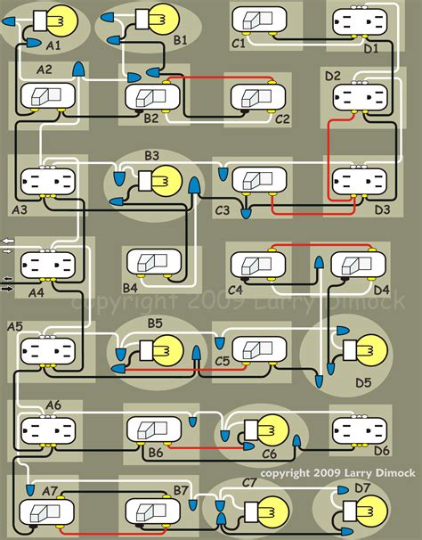 house wiring diagram of a typical circuit within