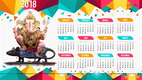 Calendar 2018 For Desk Year 2018 Calendar Wallpaper For Desktop Background Free