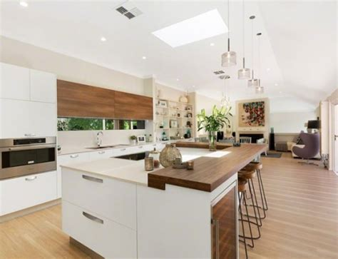 Galley Kitchen With Island Layout by A Modern Twist On Hamptons Style Dk Design Kitchens