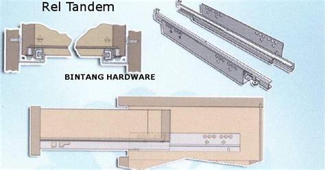 B Rel Laci 40cm Track 1 rel laci tandem undermount concealed runner bintang hardware