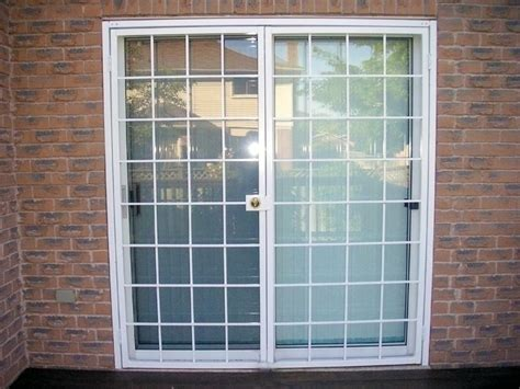 window security patio door white 9x9
