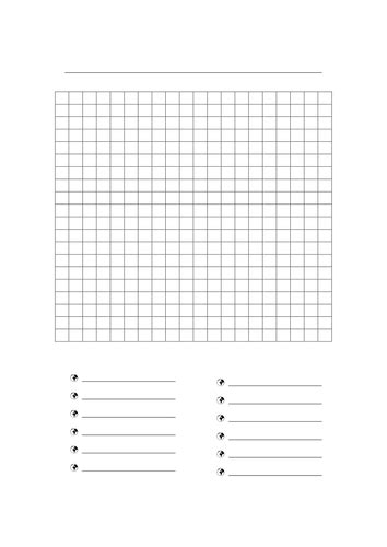 Word Search Template by Blank Wordsearch By Freckle06 Teaching Resources Tes