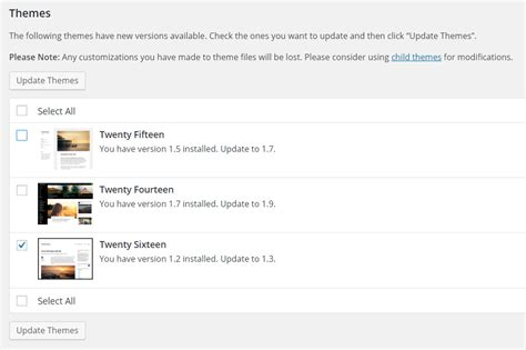 theme wordpress update how to update wordpress themes plugins why you should