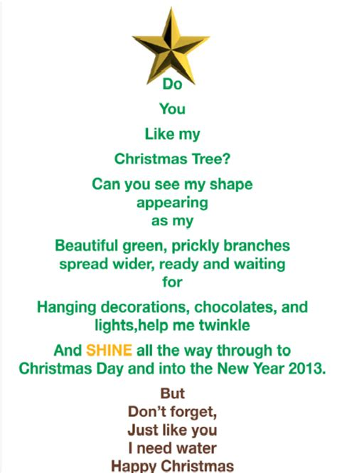 christmas tree poems happy holidays