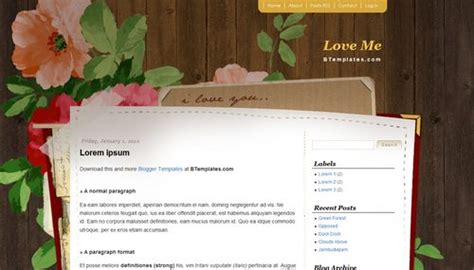 love templates for blogger love me blogger template btemplates