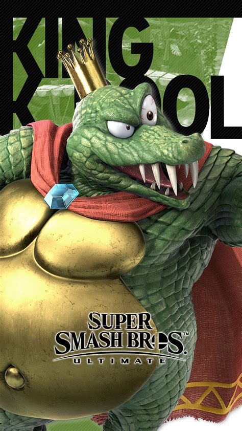 super smash bros ultimate king  rool wallpapers cat  monocle