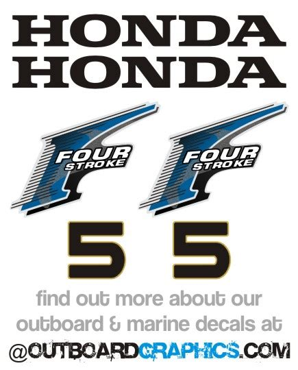 Honda Four Stroke Aufkleber by Honda 5hp 4 Stroke Outboard Engine Decals Sticker Kit