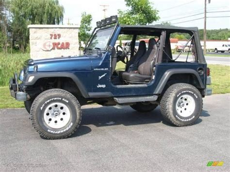 2001 patriot blue pearl jeep wrangler sport 4x4 15127086 gtcarlot car color galleries