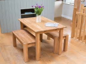 solid oak table amp bench dining room set from top furniture