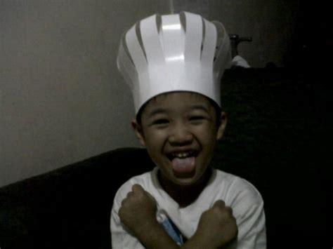 membuat topi koki sederhana mommies daily