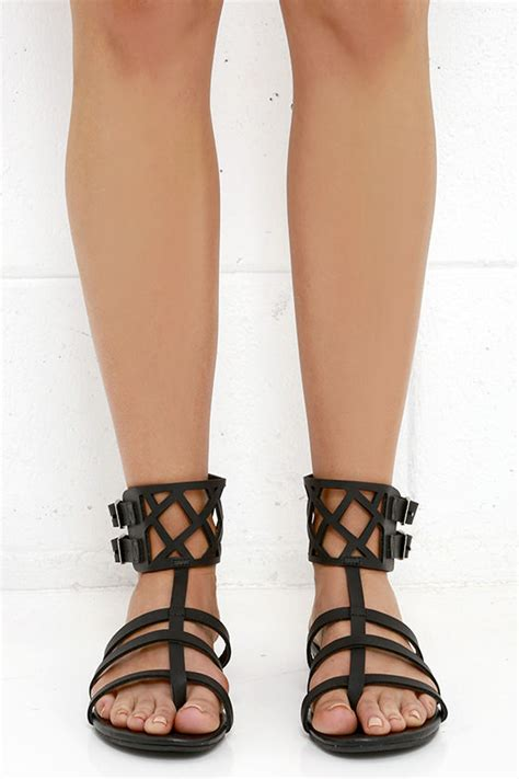 Sandal Gladiator 67 coconuts archie sandals black sandals gladiator
