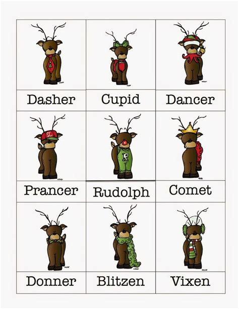 free printable reindeer names preschool printables christmas nadal christmas