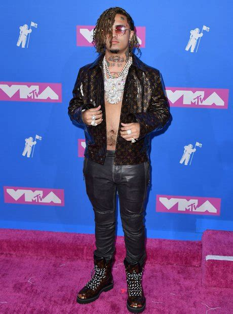 lil pump vma outfit lil pump decked himself out in louis vuitton here s