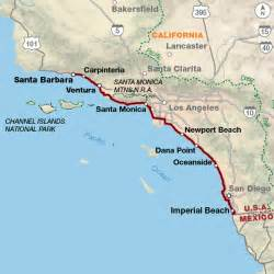 map of coast pacific coast adventure cycling route network