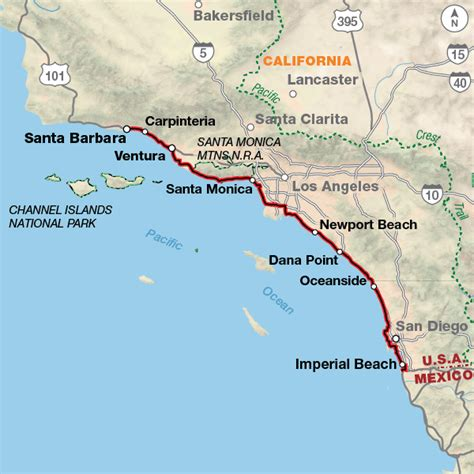 road map of pacific coast usa pacific coast adventure cycling route network