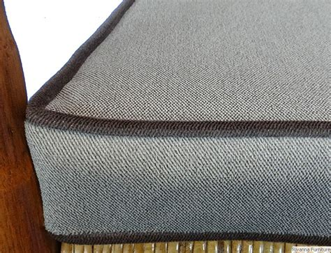 upholstery welting custom 5 piece kennedy rocker cushions from your fabric