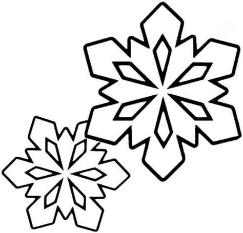 ausmalbild zwei kleine schneeflocken