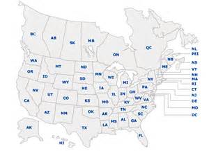 united states and canada on map distributors