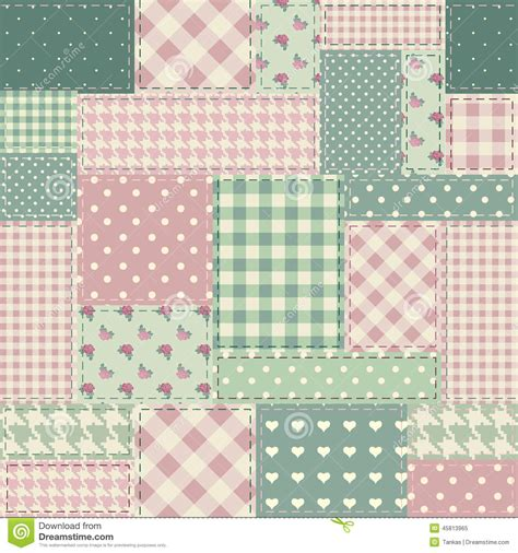 Shabby Chic Patchwork - the patchwork in style shabby chic stock vector image