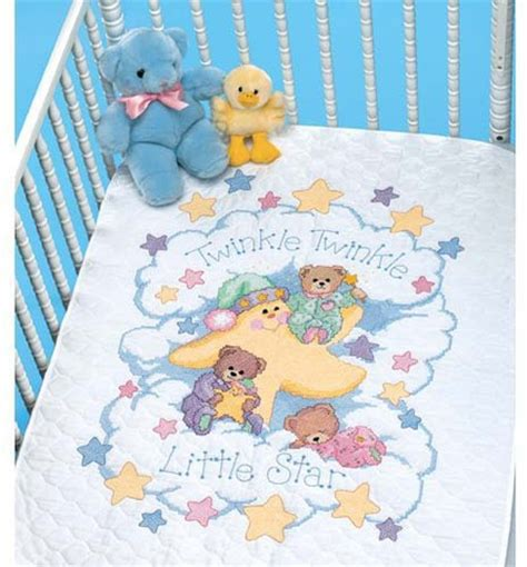 Cross Stitch Baby Quilt Patterns by Dimensions Twinkle Twinkle Quilt Sted Cross Stitch Kit 3171 123stitch