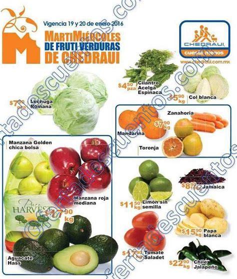 martes y miercoles de frutas y verduras chedraui 28 y 29 de enero chedraui martes y mi 233 rcoles de frutas y verduras 19 y 20