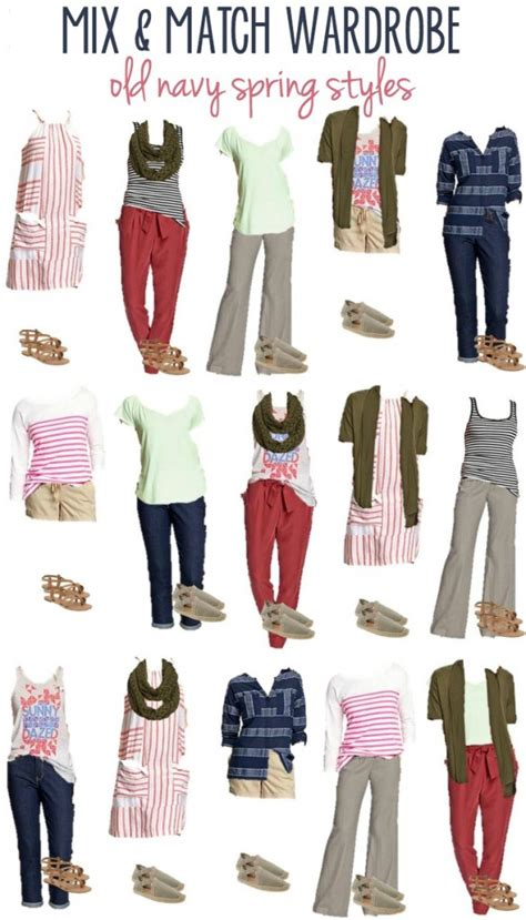 navy spring styles  mix match wardrobe options