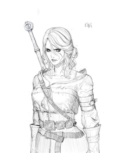 Witcher 3 Sketches by 376 Best Vg The Witcher Images On