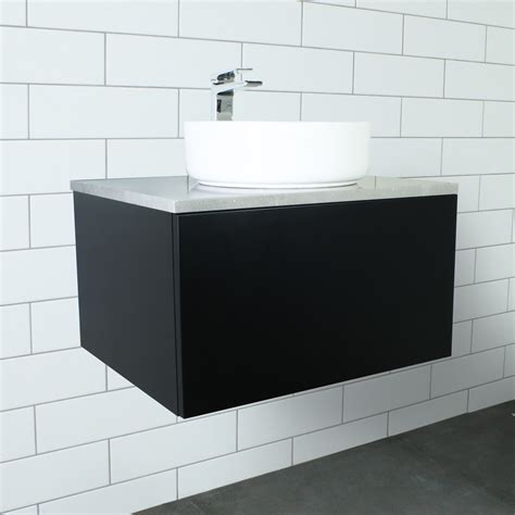 eden matte black wall mount vanity cabinet without top