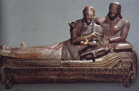 Sarcophagus Of Reclining by History 101 Gt Brancaccio Gt Flashcards Gt Etruscan And