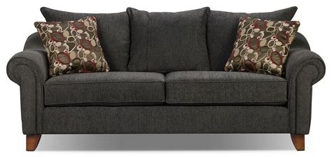 gray chenille sofa reese chenille sofa dark grey the brick