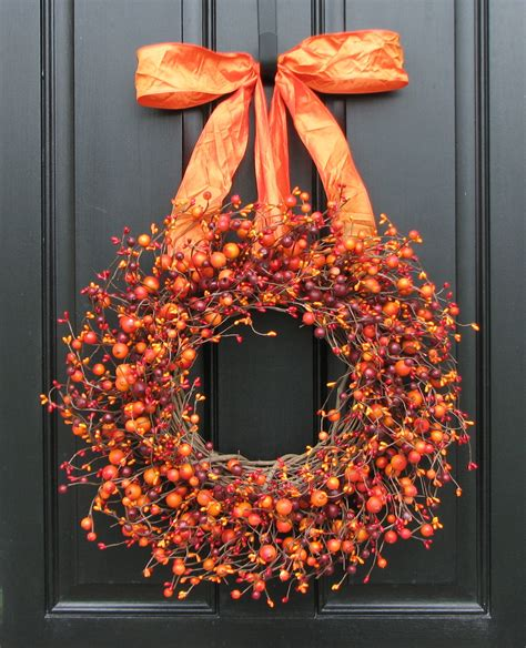 top 28 decorate wreaths fall fall wreath harvested berries autumn decorations orange