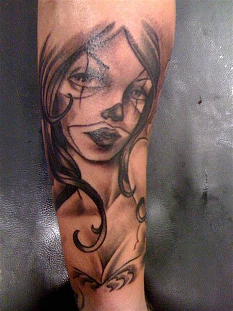 clown sleeve tattoo designs gangsta images designs