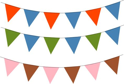 Pink Bunting Flag Banner Glag Bendera Ulang Tahun Bunting Clip At Clker Vector Clip