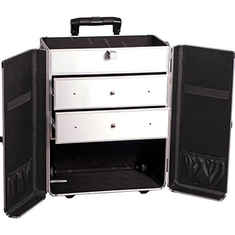 large rolling makeup case with drawers sunrise makeup rolling case 4 in 1 professional organizer