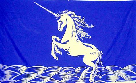 Banner Flag Animal 1 unicorn blue