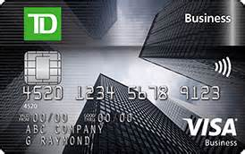 visa small business credit cards td business visa credit card td canada trust