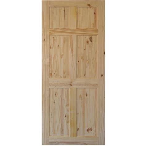 36 quot x 80 quot 6 panel knotty pine interior door slab bargain